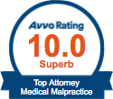 Medical Malpractice - avvo badge