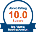 Trucking Accident - avvo badge